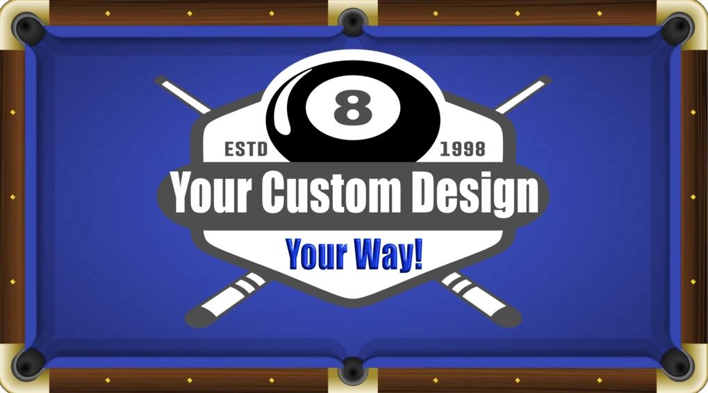 Tapis Billard personnalisé sur mesure avec votre logo