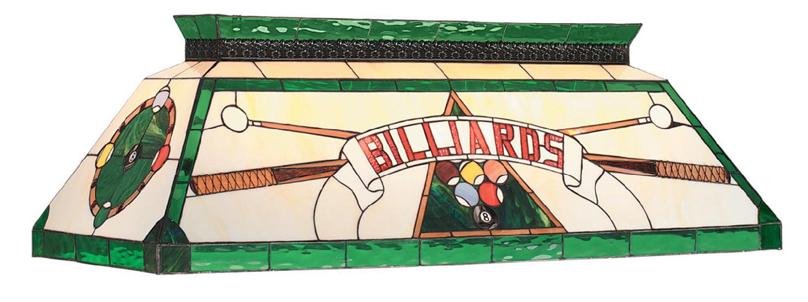 """44"""" TIFFANY BILLIARD LIGHT-GREEN"""