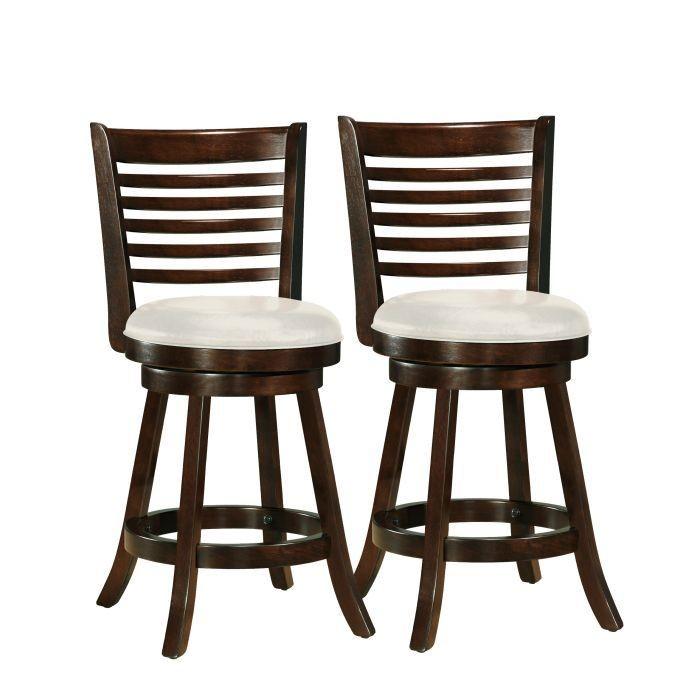 Tabourets de bar Woodgrove 38po couleur cappuccino - Ensemble de deux