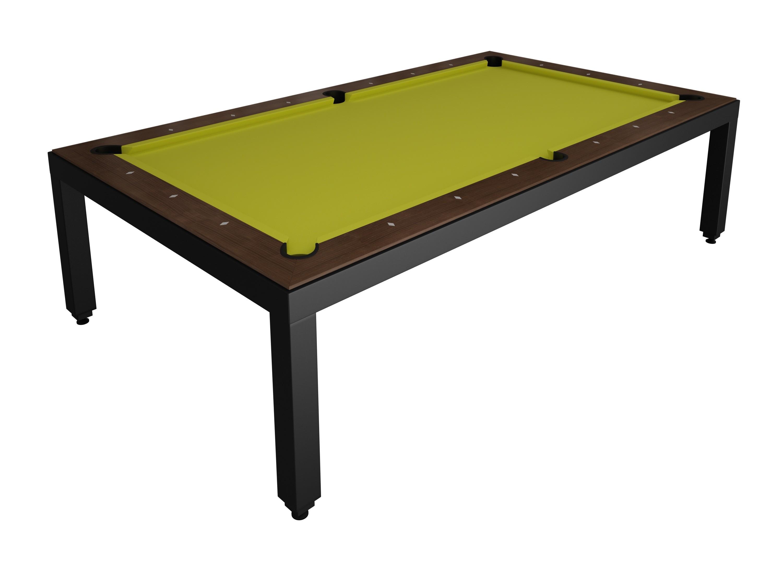 Table Diner Billard Fusion Table laquee Noire 7p
