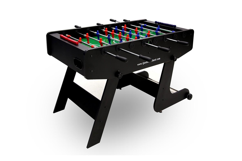 Table Soccer ajustable impact avec roulettes et joueurs telescopiques  bleu rouge