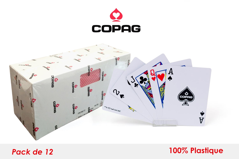 Set de 12 cartes Pocker Copag plastiques