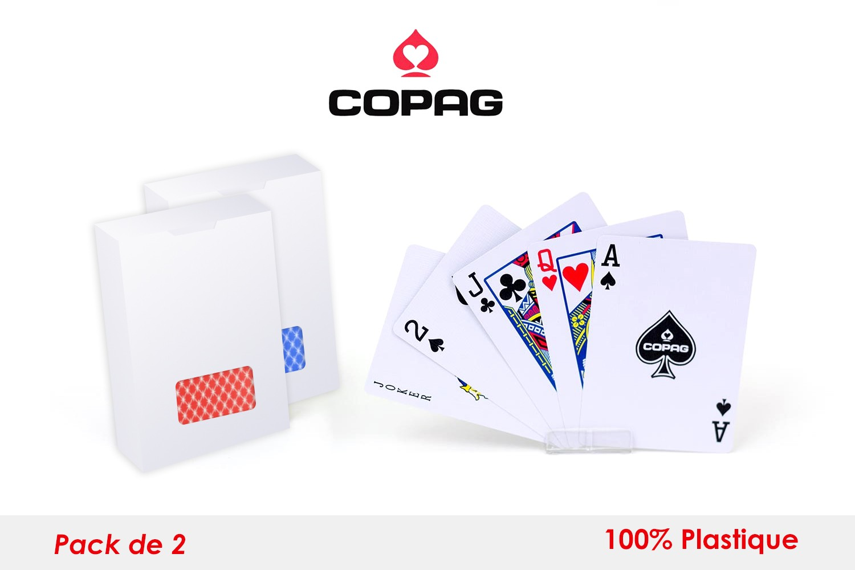Set de deux carte Pocker Copag plastique