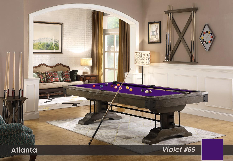 Table Billard Atlanta 8p en Pin Brun