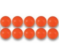 10 Balles orange de Babyfoot en plastique 35 mm