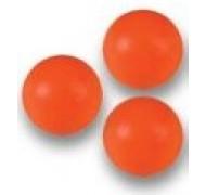 3 Balles oranges de Babyfoot en plastique 35mm