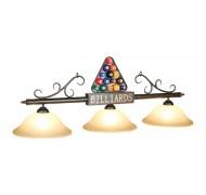 """56"""" 3L Lampe vitrée boules de billard en triangle"""