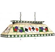 Lampe vitrail Poker Verte