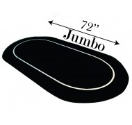 tapis poker OVAL 72''