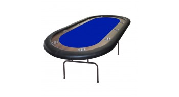 Table de poker Prestige 84'' OVAL BLEU