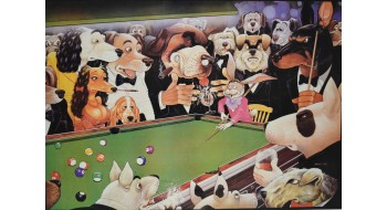 Billiard Poster dogs
