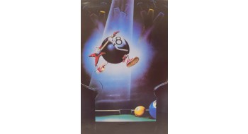 Billiard Poster guitar ball