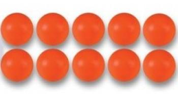 10 Balles orange de Babyfoot en plastique 35 mm