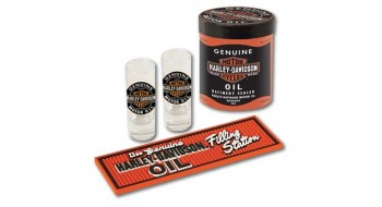 Harley-Davidson Oil Can Shot Glass Set