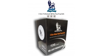 Boîte de 120 Balles pro Pingpong 3 Stars
