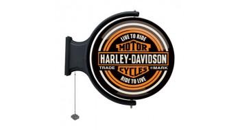 Harley-Davidson Lumière de Pub tournante