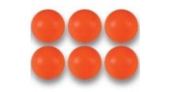 6 Balles oranges de Babyfoot en plastique