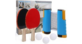 Kit Complet Filet retractable et 2 raquettes et 3 balles