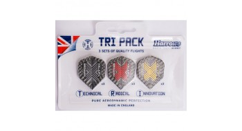 Tri-pack Plume de dard Harrows Tufftex
