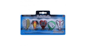 5 Set Pack Plume de dard Harrows Radical