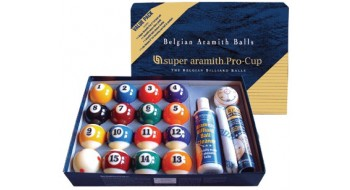 Ensemble boules TV Super Aramith Pro-Cup 2 1/4 ""