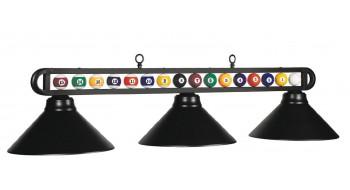 "Lampe de billard 3LT 56""  noire mate - Boules de billard"