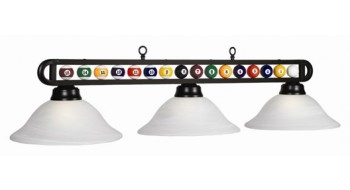 "56"" 3 LT Lampe vitrée boules de billard"