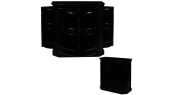 Bar Cabinet avec broche - noir