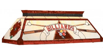 "44"" TIFFANY BILLIARD LIGHT-RED"