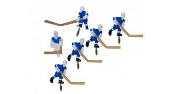 Équipe Carrom metal bleu