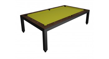 Table Diner Billard Fusion Table laquee Noire 7p