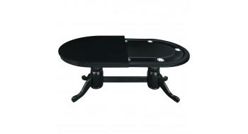 Table Pocker et diner 84'' en bois noir avec dessus diner