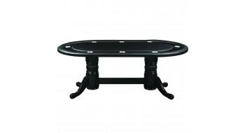 Table Pocker 84'' en bois Noire