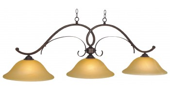 "HAWTHORN - 56"" 3LT BILLIARD LIGHT-OIL RUBBED BRONZE"