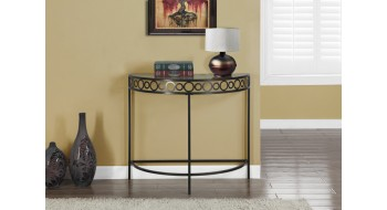 TABLE CONSOLE D'ENTREE D'APPOINT 36″L METAL BRUN CHOCOLAT