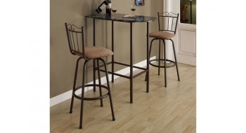 BARS GAGNE-PLACE 24″X36″ MARBRE CAPPUCCINO / METAL CAFE