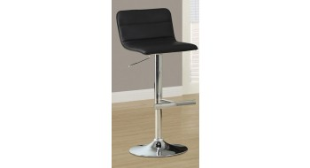 TABOURET DE BAR NOIR METAL CHROME HYDRAULIQUE