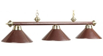 "3 LT-54"" BILLIARD LIGHT-LEATHER/BRN"