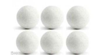 6 Balles blanches de Babyfoot en plastique