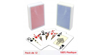 Set de 12 cartes Pocker Modiano plastiques