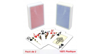 Set de deux carte Pocker Modiano plastique
