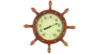 CAPTAINS WHEEL THERMOMETER