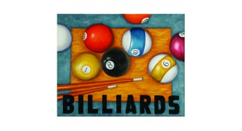 OIL PAINTING-BILLIARDS