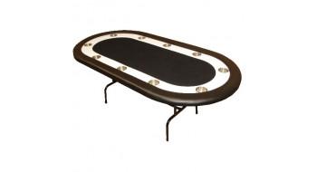 Table de Poker Monaco avec pattes pliantes Noire