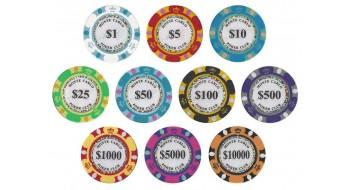 Jetons Monte Carlo Poker