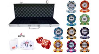 Caisse de poker Monte Carlo a valeurs personnalisées 500 jetons 14gr
