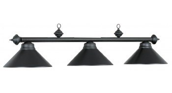"54"" 3LT BILLIARD LIGHT-MATTE BLK/MATTE BLK"