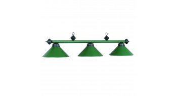 "54"" 3LT BILLIARD LIGHT- MATTE GREEN/BLK"