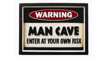 Decor de mur Warning-Man Cave