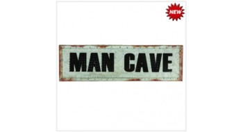 METAL SIGN-21″ MAN CAVE W/ LIGHTS